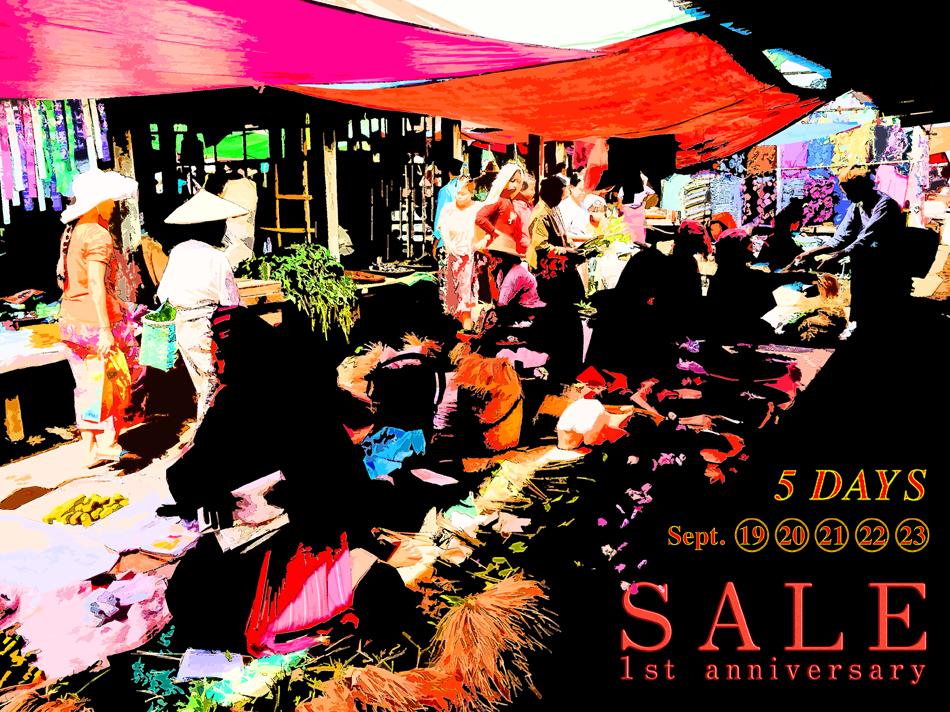 【終了】開店1周年 記念SALE!</br>2015.9.19(sat) – 9.23(thu)